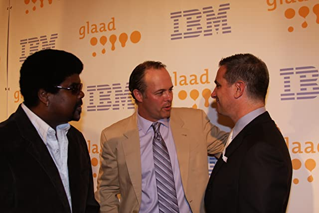 Filmmakers Geoff Callan and Mike Shaw with Neil Giuliano at the 20th Annual GLAAD Media Awards