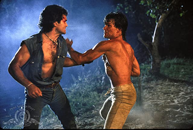 Patrick Swayze and Marshall R. Teague in Road House (1989)