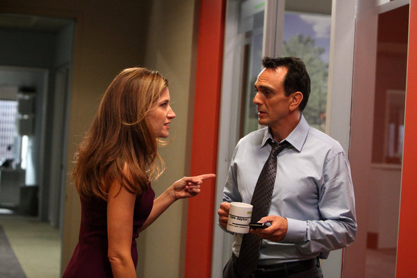 Hank Azaria and Kathryn Hahn in Free Agents (2011)