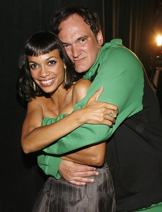 Quentin Tarantino and Rosario Dawson