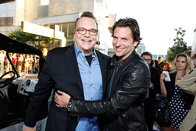 Tom Arnold and Bradley Cooper at Hit and Run (2012)