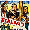 William Holden, Harvey Lembeck, Otto Preminger, and Robert Strauss in Stalag 17 (1953)