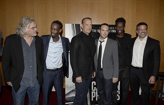 Tom Hanks, Michael De Luca, Dana Brunetti, Paul Greengrass, and Barkhad Abdi at Captain Phillips (2013)