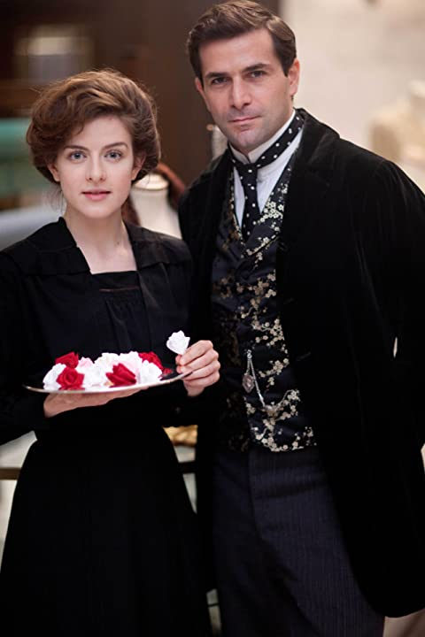 Grégory Fitoussi and Aisling Loftus in Mr Selfridge (2013)