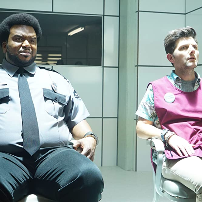Adam Scott and Craig Robinson in Ghosted (2017)