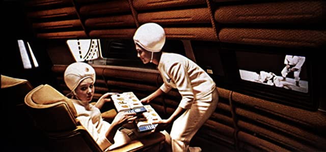 Still of Penny Brahms and Edwina Carroll in 2001: A Space Odyssey