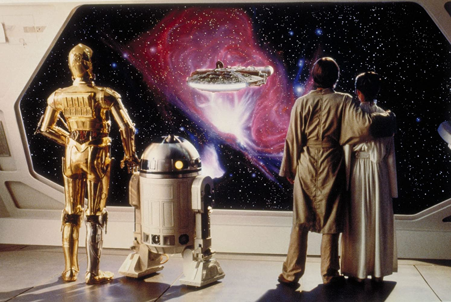 Anthony Daniels, Carrie Fisher, Mark Hamill, and Kenny Baker in Star Wars: Episode V - The Empire Strikes Back (1980)