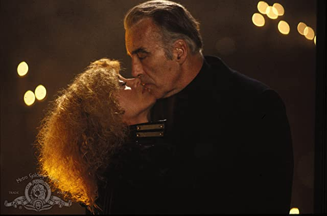 Sybil Danning and Christopher Lee in Howling II: ... Your Sister Is a Werewolf (1985)
