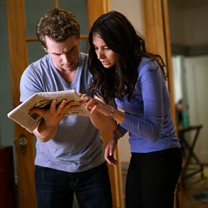 Genesis Rodriguez and Freddie Stroma in Time After Time (2017)