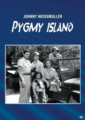 David Bruce, Angelo Rossitto, Ann Savage, and Johnny Weissmuller in Pygmy Island (1950)