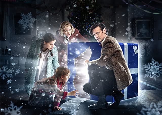 Holly Earl, Claire Skinner, Matt Smith, and Maurice Cole in Doctor Who (2005)