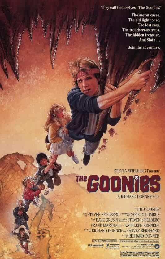 Poster The Goonies 1985 300MB Movie Download Dual Audio HD Free