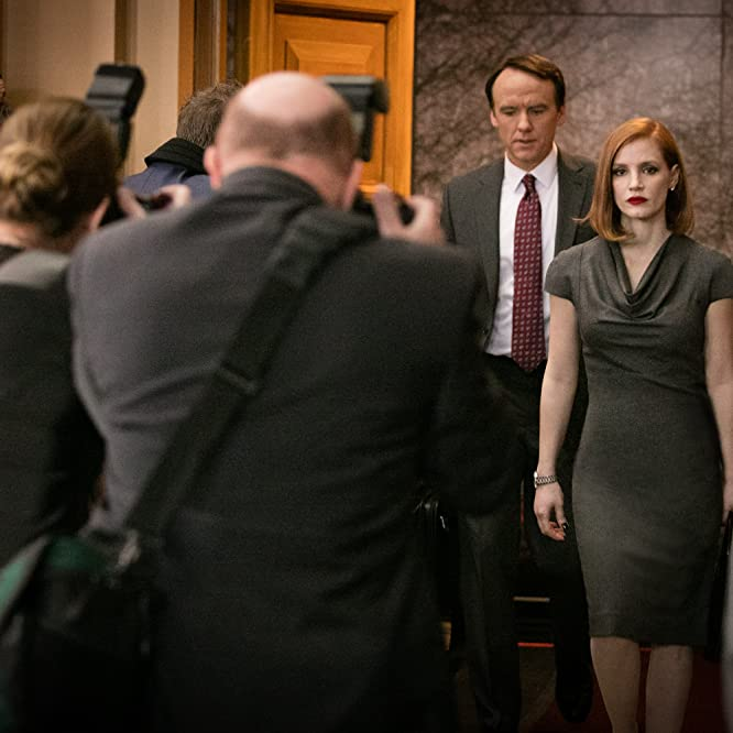 David Wilson Barnes and Jessica Chastain in Miss Sloane (2016)
