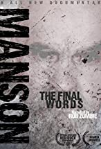 Primary image for Charles Manson: The Final Words
