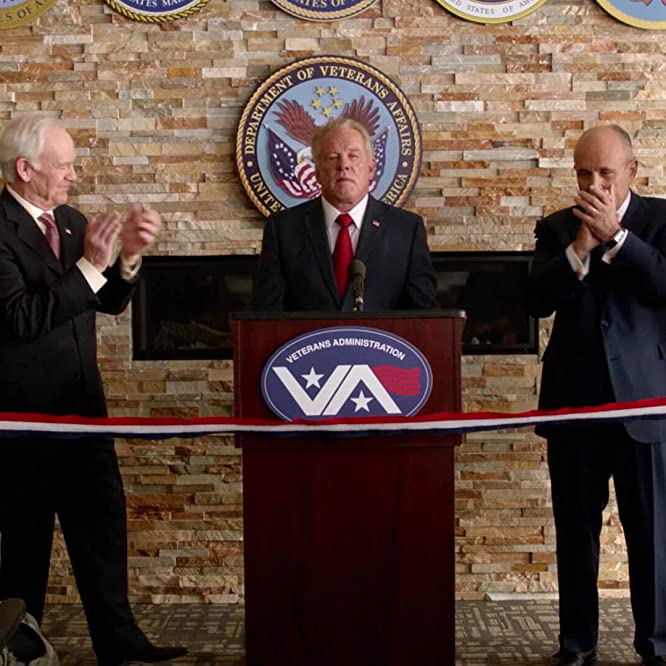 Nick Nolte, Rudy Giuliani, Robert Pine, and Bill Richardson in Graves (2016)