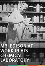 Mr. Edison at Work in His Chemical Laboratory Poster