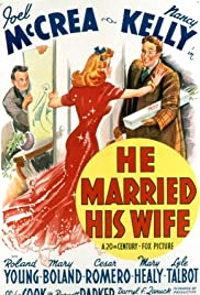 He Married His Wife (1940) Poster - Movie Forum, Cast, Reviews