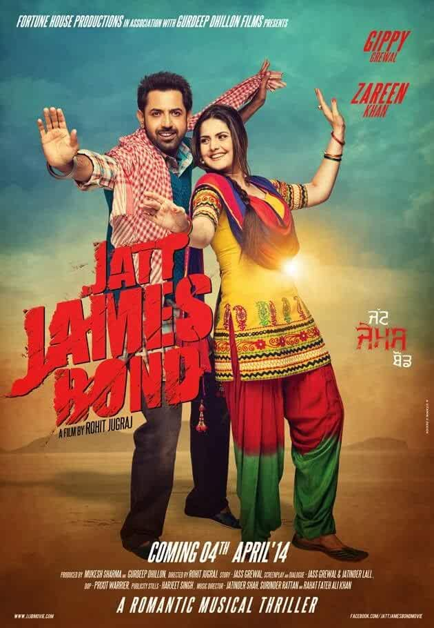 Jatt James Bond 2014 Hindi Dual Audio 720p HDRip 700MB