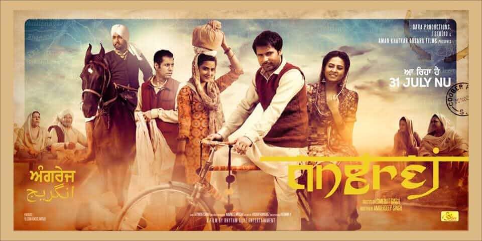 Angrej (2015) 720p DVDRip Full Punjabi Movie Watch Online Download 5.1Ch ESub