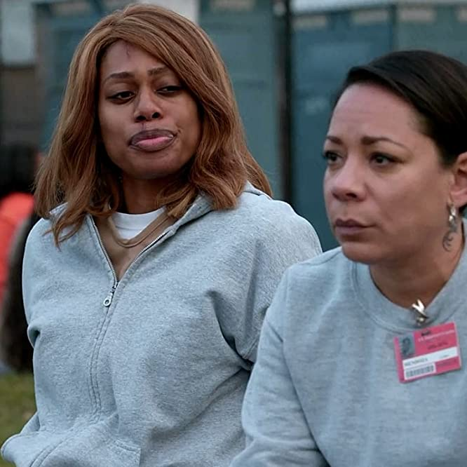 Selenis Leyva and Laverne Cox in Orange Is the New Black (2013)