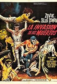 Blue Demon y Zovek en La invasión de los muertos Poster