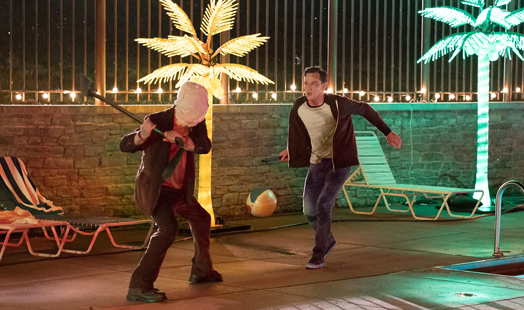 Damian Maffei and Lewis Pullman in The Strangers: Prey at Night (2018)