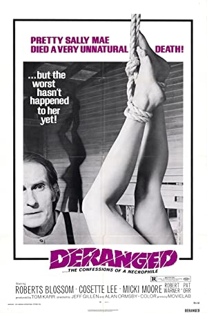 Deranged: Confessions of a Necrophile poster