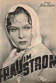 Frau im Strom Poster