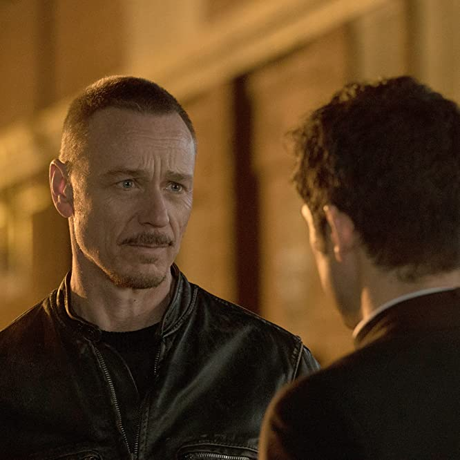 Ben Daniels and Alfonso Herrera in The Exorcist (2016)