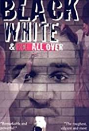 Black & White & Red All Over Poster