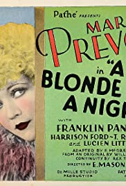 A Blonde for a Night Poster
