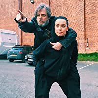 Mark Hamill and Daisy Ridley on the set of 'The Last Jedi'