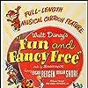 Walt Disney, Edgar Bergen, Cliff Edwards, Clarence Nash, Charlie McCarthy, and Mortimer Snerd in Fun & Fancy Free (1947)