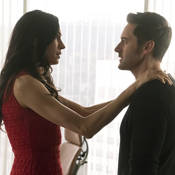 Famke Janssen and Ryan Eggold in The Blacklist: Redemption (2017)