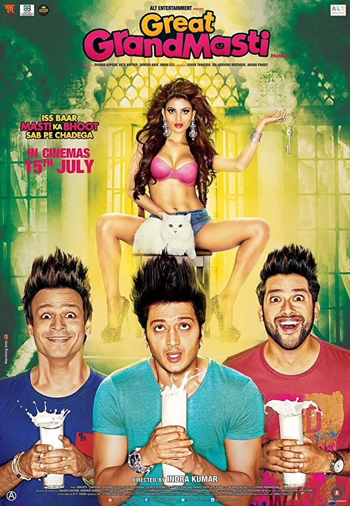 Great Grand Masti (2016) 720p  HEVC - x265 AC3 Esubs - 5 1