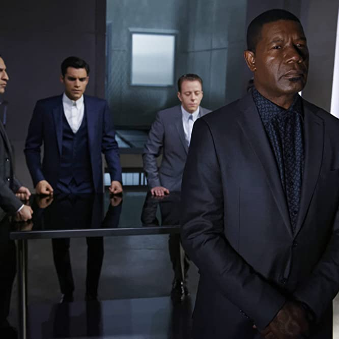 Dennis Haysbert, Douglas Nyback, and Sean Teale in Incorporated (2016)
