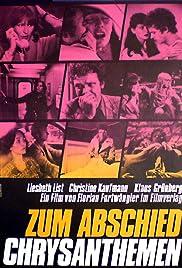 Zum Abschied Chrysanthemen Poster