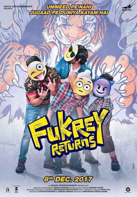 Fukrey Returns 2017 Hindi 480p Pre-DVDRip full movie watch online freee download at movies365.ws