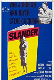 Slander (1957) Poster - Movie Forum, Cast, Reviews