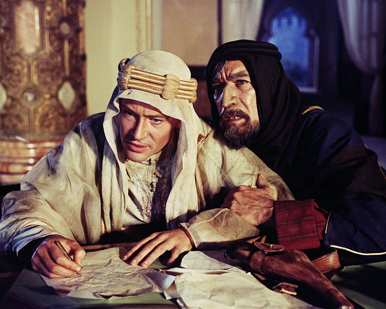 Anthony Quinn and Peter O'Toole in Lawrence of Arabia (1962)