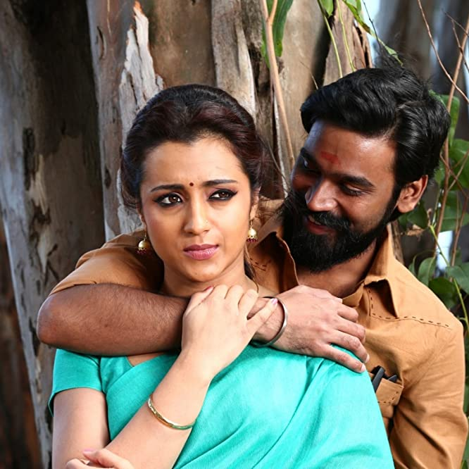 Dhanush and Trisha Krishnan in Kodi (2016)
