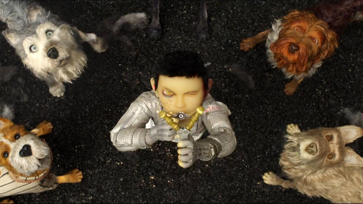 Jeff Goldblum, Bill Murray, Bob Balaban, Edward Norton, and Koyu Rankin in Isle of Dogs (2018)