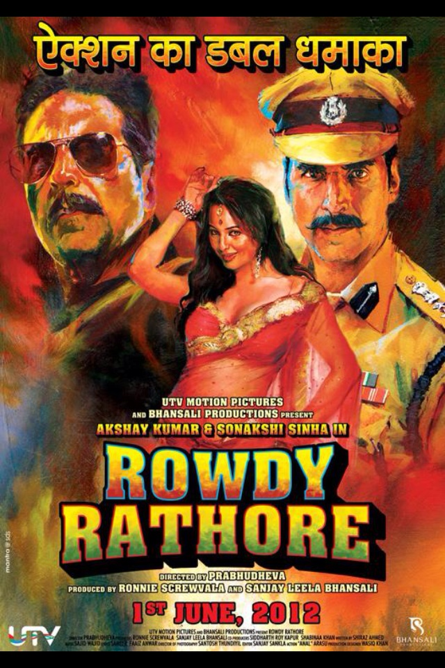 Dhadang dhang rowdy rathore chikni kamar pe teri 2012 video song.