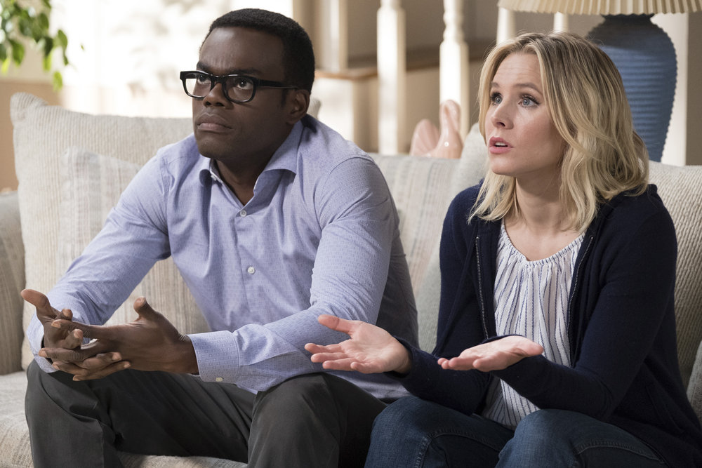 Kristen Bell and William Jackson Harper in The Good Place (2016)