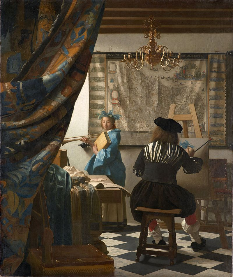 The Artist in His Studio Poster