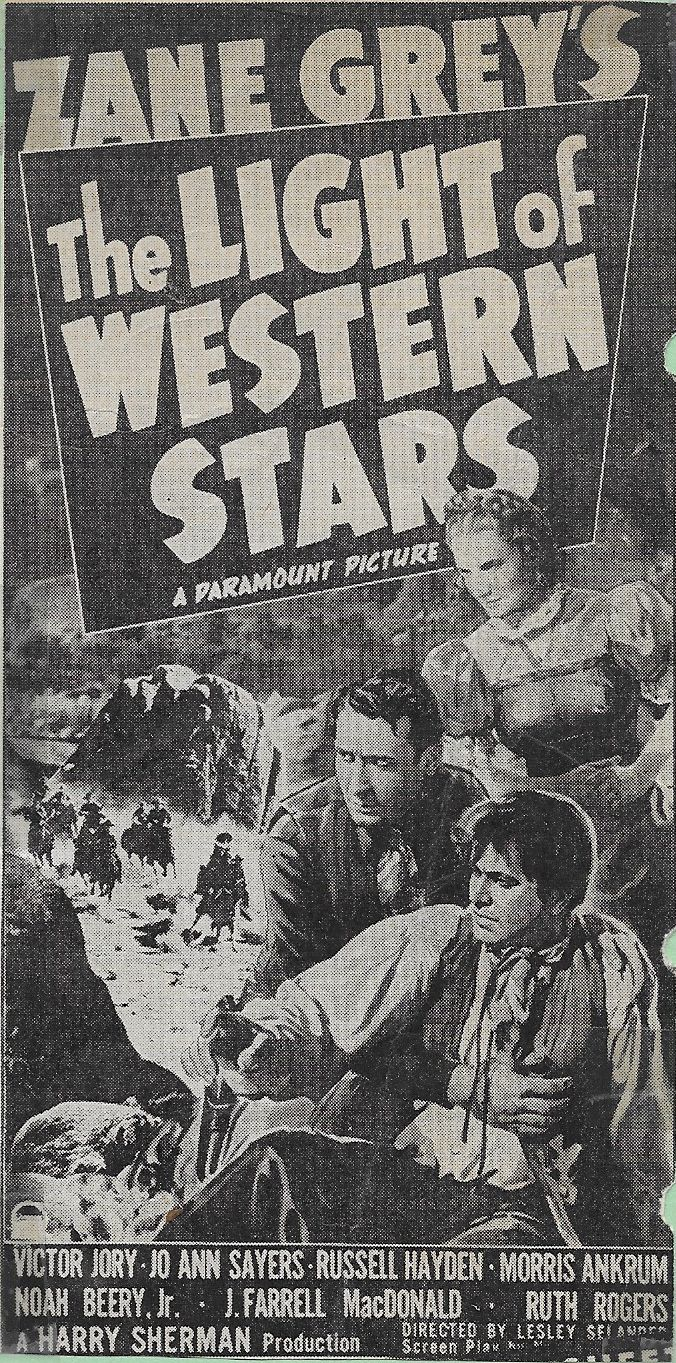 The Light of Western Stars Watch Full Movie Free Online