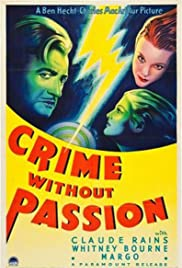 Crime Without Passion (1934) Poster - Movie Forum, Cast, Reviews
