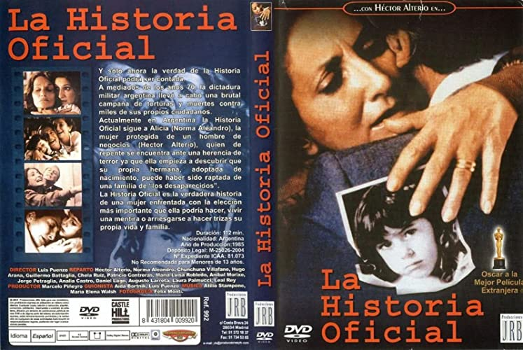 an analysis of the topic of la historia oficial and the fight for the desaperecidos historic movie d Abzurdah cuenta la historia de the film is about this historic event shared by these jess y james es una road movie, una historia de amor y el viaje de un.