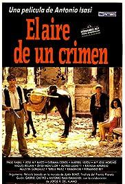 El aire de un crimen Poster