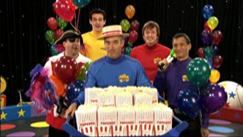 Lyrics containing the term: hot poppin popcorn by the wiggles